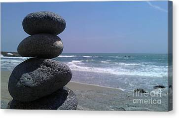 Stacked Rocks Canvas Print