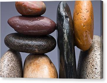 Stacked Stones 2 Canvas Print by Steve Gadomski