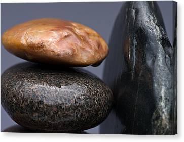 Stacked Stones 3 Canvas Print by Steve Gadomski