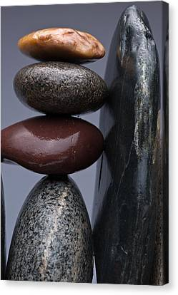 Stacked Stones 5 Canvas Print by Steve Gadomski