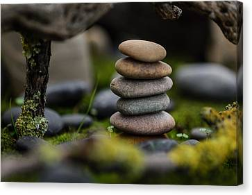 Mystic Setting Canvas Print - Stacked Stones B1 by Marco Oliveira