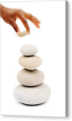 Stacking Stones Canvas Print by Chevy Fleet