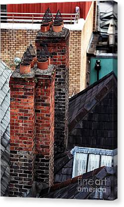 Stacks In Dublin Canvas Print by John Rizzuto
