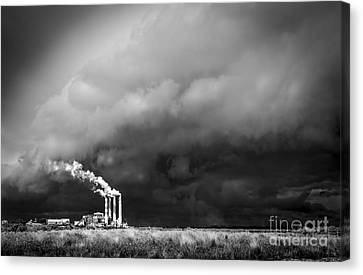 Stacks In The Clouds Canvas Print