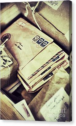 Stacks Of Old Mail Canvas Print