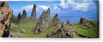 Stacks Surrounding The Old Man Canvas Print by Panoramic Images