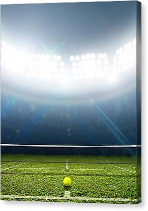 Stadium And Tennis Court Canvas Print