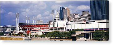 Stadium In A City, U.s. Bank Arena Canvas Print by Panoramic Images