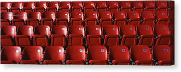 Empty Chairs Canvas Print - Stadium Seats by Panoramic Images