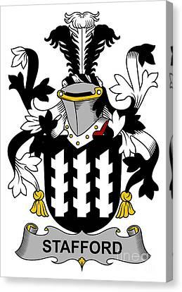 Stafford Coat Of Arms Irish Canvas Print