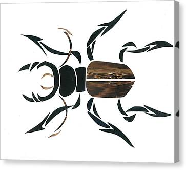 Invertebrates Canvas Print - Stag Beetle Going Tribal by Earl ContehMorgan