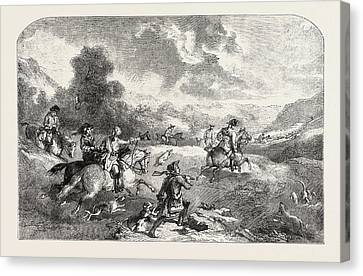 Stag-hunting In The Reign Of George II Canvas Print