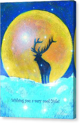 Stag Of Winter Canvas Print