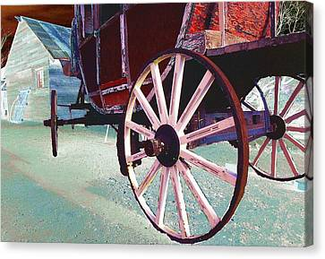 Stage Coach 1 Canvas Print by Kae Cheatham