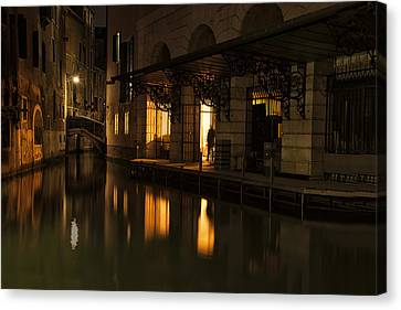 Canvas Print featuring the photograph Stage Door by Marion Galt