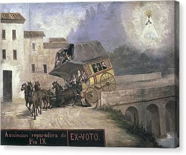 Localities Canvas Print - Stagecoach Accident Near Montserrat by Everett