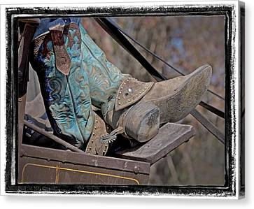 Stagecoach Cowboy's Boots Canvas Print