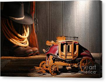 Stagecoach Dream Canvas Print by Olivier Le Queinec