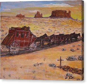 Southwest Stagecoach Canvas Print by Larry Lamb