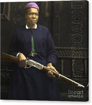 Stagecoach Mary Fields 20130518 Square With Text Canvas Print
