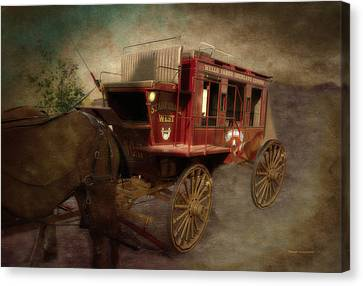 Stagecoach West Sepia Textured Canvas Print