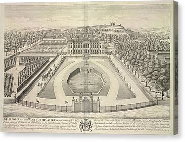 Stainborough And Wentworth Castle Canvas Print by British Library