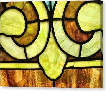 Stained Glass 3 Canvas Print by Tom Druin