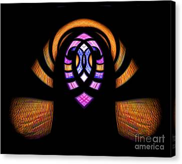 Stained Glass Abstract Canvas Print by Sue Stefanowicz