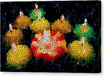 Stained Glass Candle 1 Canvas Print by Lanjee Chee