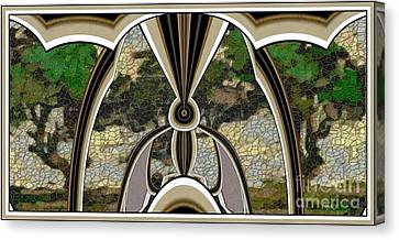 Stained Glass Collage Sgc1 Canvas Print by Pemaro