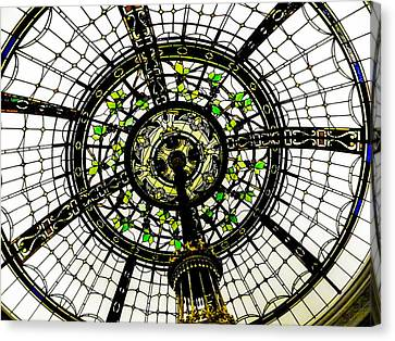 Stained Glass Dome Canvas Print by Jon Woodhams