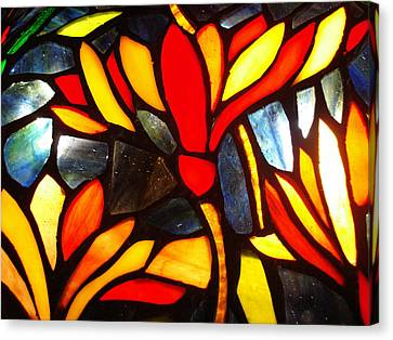 Stained Glass Eight Canvas Print