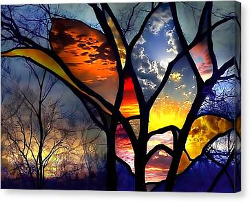 Stained Glass Flower Canvas Print