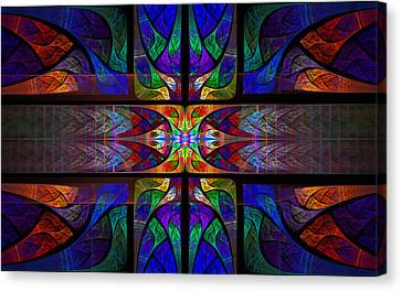 Stained Glass Canvas Print by GJ Blackman