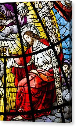 Stained Glass Jesus Canvas Print by Dancasan Photography