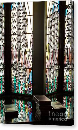Canvas Print featuring the photograph Stained Glass by Lawrence Burry