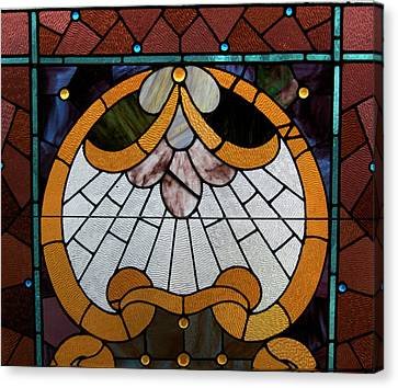 Stained Glass Lc 09 Canvas Print by Thomas Woolworth