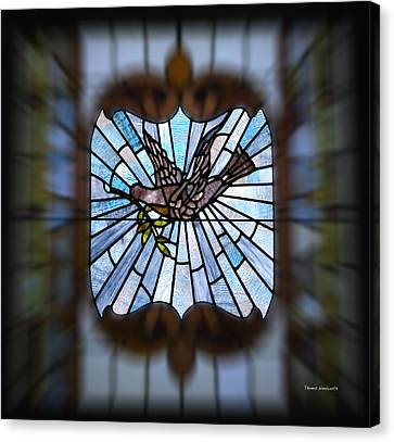 Stained Glass Lc 13 Canvas Print by Thomas Woolworth