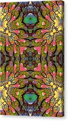 Canvas Print featuring the digital art Stained Glass by Lea Wiggins