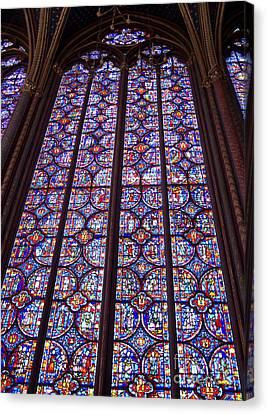 Stained Glass Magnificence Canvas Print by Ann Horn
