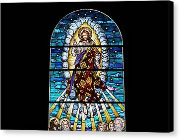 Stained Glass Pc 02 Canvas Print by Thomas Woolworth
