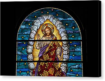 Stained Glass Pc 03 Canvas Print by Thomas Woolworth