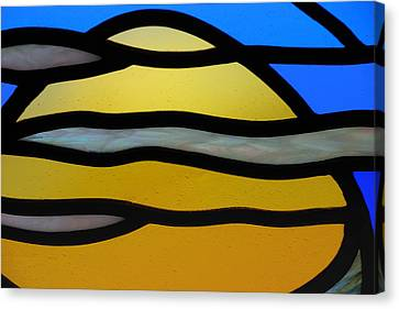Stained Glass Scenery 3 Canvas Print by Wendy Wilton