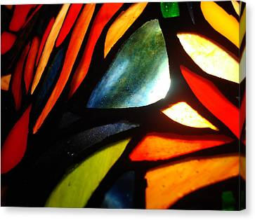 Stained Glass Seven Canvas Print