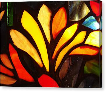 Stained Glass Six Canvas Print