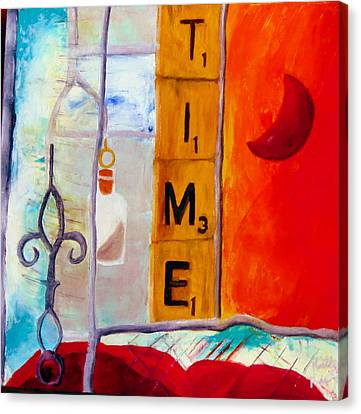 Stained Glass Time Canvas Print