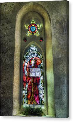 Stained Glass Window Art Canvas Print by Ian Mitchell