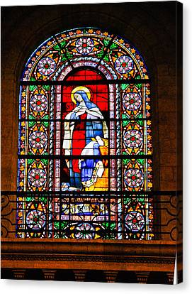 Stained Glass Window Bordeaux Cathedral Canvas Print