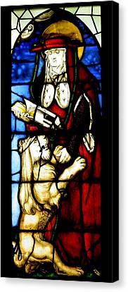Stained Glass Window C Freiburg Im Breisgau Canvas Print by Leone M Jennarelli
