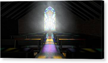 Stained Glass Window Church Canvas Print